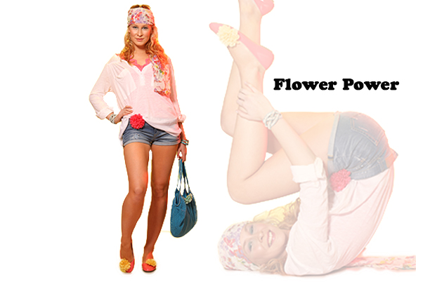 Kollektion Flower Power Schuhclips La Loria